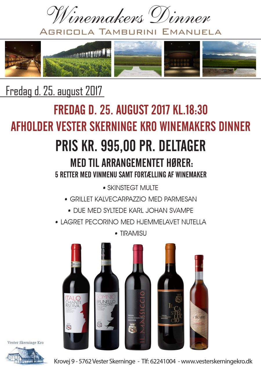 25. august – Winemakers dinner